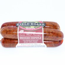 Field Roast Vegetarian Mexican Chipotle Grain Meal Sausages with Smoked Chipotle and Chili de Arbol Peppers 12.95 oz
