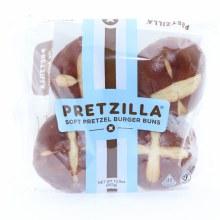 Pretzilla Soft Pretzel Burger Buns  13.2 oz