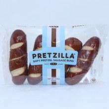 Pretzilla Soft Pretzel Sausage Buns 4 buns  10.4 oz