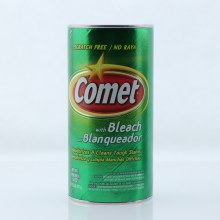 Comet with Bleach Scratch Free Deodorizes  and  Cleans Tough Stains