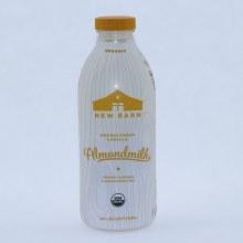 New Barn Organic Unsweetened Vanilla, Organic Almonds, Carrageenan Free, USDA Organic, Vegan 28 oz