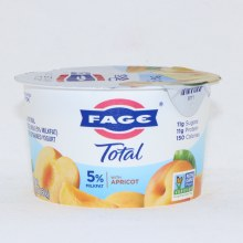 Fage Total 5Per Cent Milk Fat Yogurt with Apricot  All Natural  Whole Milk  Greek Strained Yogurt  Non GMO