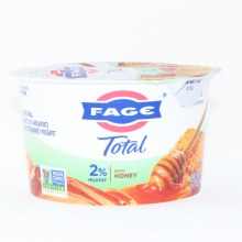 Fage Total 2Per Cent Milk Fat Yogurt  with Honey  All Natural  Greek Strained Yogurt  Non GMO