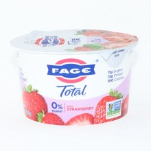 Fage Total 0Per Cent Milk Fat Yogurt with Strawberry  All Natural  Non Fat Greek  Strained Yogurt  Non GMO 5.3 oz