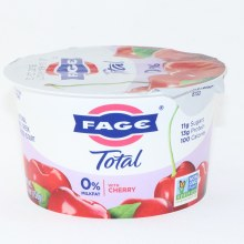 Fage Total 0Per Cent Milk Fat with Cherry  All Natural  Non Fat  Strained Yogurt  Non GMO