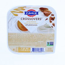 Fage  Crossovers Honey Blended Greek Strained Yogurt with Glazed Pecans  Non GMO  5.3oz