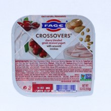 Fage  Crossovers Cherry Blended Greek Strained Yogurt with Amaretti Cookies  Non GMO  5.3oz