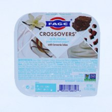 Fage  Crossovers Vanilla Blended Greek Strained Yogurt with Brownie Bites  Non GMO  5.3oz