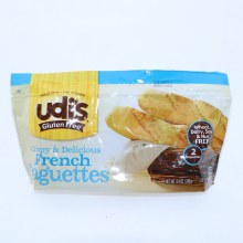 Udis French Baguettes Crispy  and  Delicious Wheat Dairy Soy  and  Nut Free Gluten Free 2 Baguettes 8.4 oz