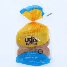 Udis Classic Hamburger Bun Soft  and  Delicious Wheat Dairy  and  Nut Free 10.4 oz