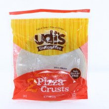 Udis Gluten Free Pizza Crusts. 2 Count Thin  and  Crispy.