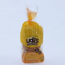 Udis Plain Bagels Wheat Dairy Soy  and  Nut Free Gluten Free 5 Bagels