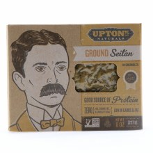 Upton Ground Seitan in Crumbles Good Source of Protein Zero Oil Trans Fat  and  Cholesterol Low in Carbs  and  Fat NON GMO 100Per Cent Vegan 8 oz