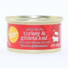 Natural Value Pate Style Turkey  and  Giblets Loaf Grain Free Dinner for Cats