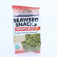 Chef Kims Seaweed Snacks Sweet and Spicy Organic Roasted Swaweed 100Per Cent natural Gluten Free No GMOs  0.35 oz