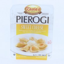 Kasias Sweet Cheese Pierogi Dumplings Filled with Lightly Sweetened Bakers Cheese  and  a Hint of Vanilla Extract 0g Trans Fat Made with Sugar Cane No Artificial Colors or Flavors 14 oz 14 oz