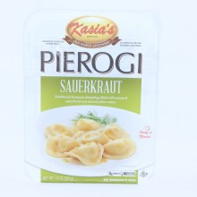 Kasias Sauerkraut Pierogi Dumplings Filled with Seasoned Sauerkraut  and  Minced Yellow Onion 0g Trans Fat No Artificial Colors or Flavors 14 oz 14 oz