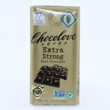 Chocolove Extra Strong Dark Chocolate, 77% Cocoa, NON GMO 3.2 oz