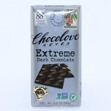 Chocolove Extreme Dark Chocolate, NON GMO, 88% Cocoa 3.2 oz