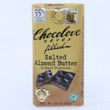 Chocolove Salted Almond Butter in Dark Chocolate, 55% Cocoa 3.2 oz