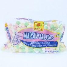 De La Rosa Marshmallows Vanilla, Banana, Lemon, and Strawberry Flavored.  14.5 oz