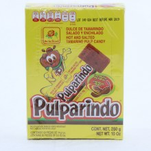 De La Rosa Pulparindo Hot And Salted Tamarind Pulp Candy 10 oz