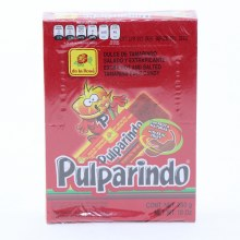 De La Rosa Pulparindo Extra Hot And Salted Tamarind Pulp Candy  20 pc
