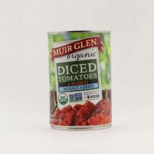 Muir Glen diced tomatoes no salt  14.5 oz
