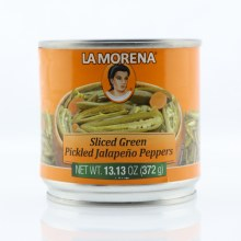 La Morena Sliced Green Pickled Jalapeno Peppers  13.13 oz