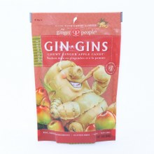 The Ginger People, Gin Gin, Chewy Ginger Spicy Apple Candy, Gluten Free, Vegan, Non GMO 3 oz