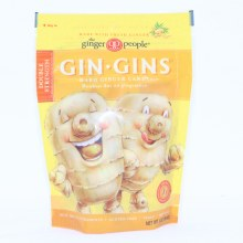 The Ginger People, Gin-Gins, Double Strength Ginger Candy, Gluten Free, Non GMO, Vegan 3 oz