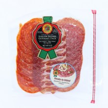 Daniel Italian Brand Gourmet Pack Hot Calabrese Pepper Salame and Hot Capocollo Gluten Free and No MSG Added
