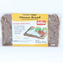 Delba Famous German Fitness Bread made with Natural Ingredients, No Preservatives, Kosher, Cholesterol Free, Lactose Free and High in Fiber  16.75 oz