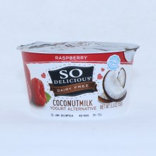 So Delicious Coconut Milk Yogurt  Raspberry Flavor  Dairy Free  Gluten Free  Non GMO  53 oz  5.3 oz