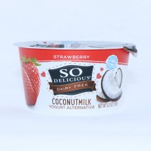 So Delicious  Coconut Milk Yogurt  Strawberry Flavor  Dairy Free  Non GMO  Gluten Free  53 oz  5.3 oz