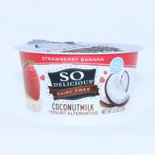 So Delicious  Coconut Milk Yogurt  Strawberry Banana Flavor  Dairy Free  Gluten Free  Non GMO  53 oz 5.3 oz