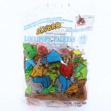 Alvbro Little Chicken Lollipops, Peach and Pineapple Flavors,  40 pieces 19.75 oz