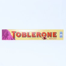 Toblerone Fruit & Nut, Swiss Milk Chocolate With Raisins & Honey Almond Nougat  100 g
