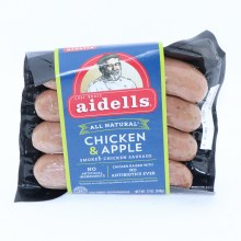 Aidells All Natural Chicken  and  Apple Smoked Chicken Sausage No Artificial Ingredients