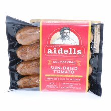 Aidells All Natural Sun Dried Tomato Smoked Chicken Sausage with Mozzarella Cheese No Artificial Ingredients
