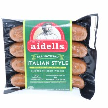 Aidells All Natural Italian Style Smoked Chicken Sausage with Mozzarella Cheese No Artificial Ingredients