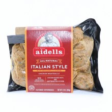 Aidells All Natural Italian Style Chicken Meatballs with Mozzarella Cheese No Artificial Ingredients Gluten Free