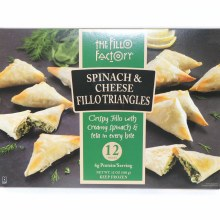 The Fillo Factory Spanakopita, Spinach and Cheese Fillo Appetizers, No Trans Fat, Vegetarian 12 oz