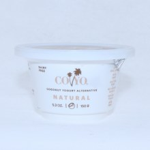 Coyo Coconut Yogurt Natural Live Cultures Non GMO Gluten Free No Added Sugar Vegan Gum Free 5.3 oz 5.3 oz