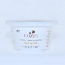 Coyo Coconut Yogurt Alternative  Mango Flavor  Live Cultures  Non GMO  Gluten Free  No Added Sugar  Vegan  Gum Free  5.3 oz 5.3 oz