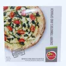 Mandia Cherry Tomatoes  and  Spinach Pizza No Artificial Preservatives Colors or Flavors 14.30 oz