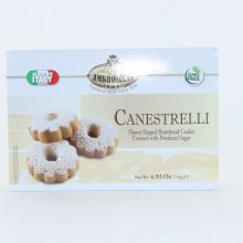 Ambrosiana  Canestrelli Flower Shaped Shortbread Cookie Covered with Powdered Sugar GMO FREE