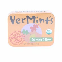 VerMints, Ginger Mint, Organic Mints, Non GMO, Gluten Free, Vegan, Nut Free, Kosher 1.41 oz