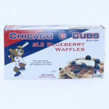 Chicago Cubs Blueberry Waffles, No Artificial Flavors, Colors or Preservatives 12.3 oz