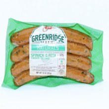Green Ridge Farm Naturals Spinach  and  Feta Chicken Sausage 12g of Protein No Nitrates or Hormones Added Gluten Free 12 oz